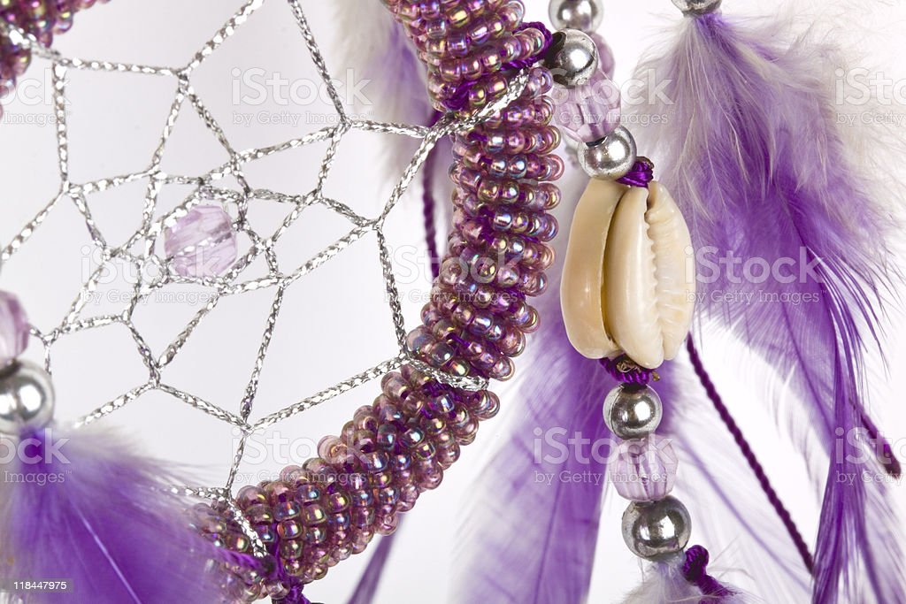 Dream-catcher detail. royalty-free stock photo