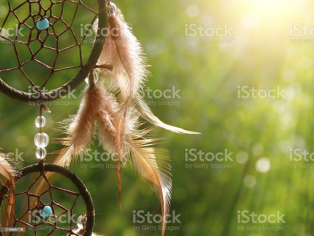 dreamcatcher in sunlight stock photo