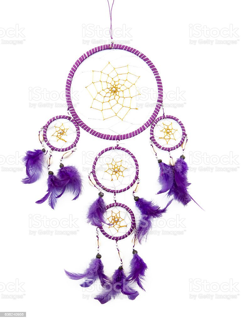 Dreamcatcher isolated on white - Photo
