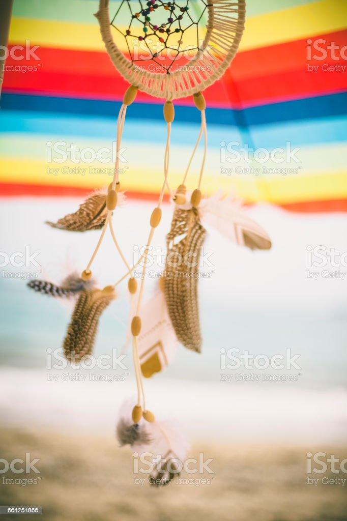 Porte-bonheur indien sur la plage - Photo