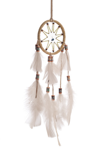 Dreamcatcher isolated on white