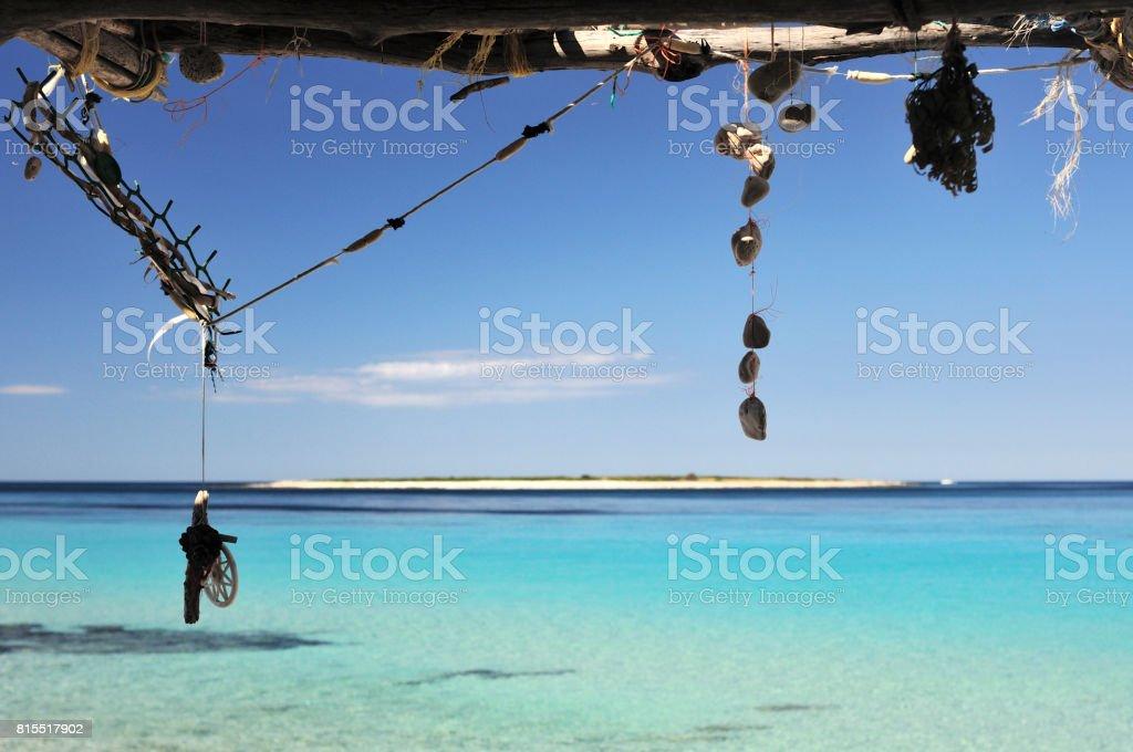 Dreamcatchers and pendants stock photo