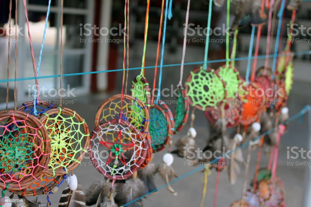 Dreamcatchers on Display for Sale stock photo
