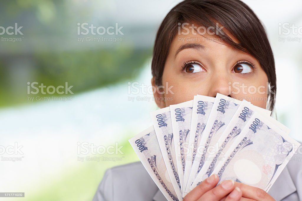 Dreaming about new investments royalty-free stock photo
