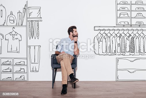 istock Dreaming about new wardrobe. 508839838