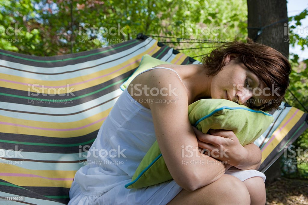 Dreaming and Hugging royalty-free stock photo