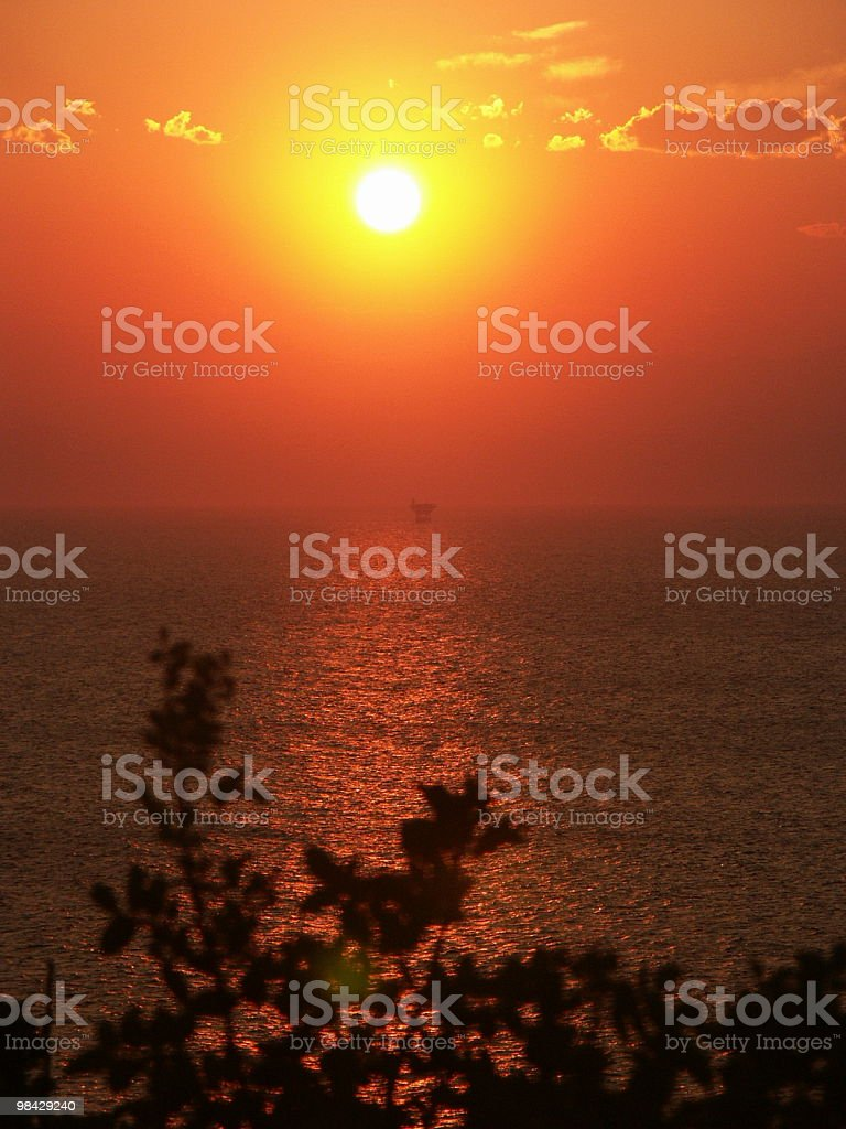 Dreaming at the evening royalty-free stock photo