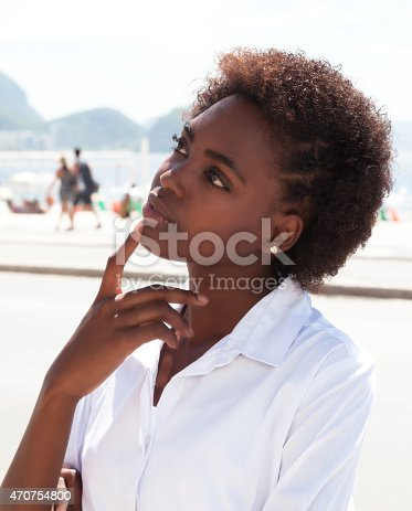 istock Dreaming brazilian woman at Rio de Janeiro 470754800