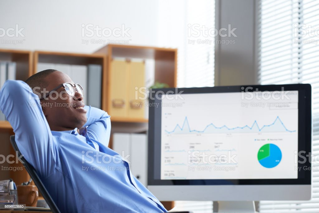 Dreaming businessman stock photo