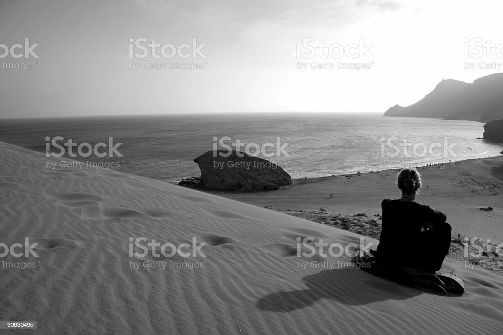 Dreaming by the sea royalty-free stock photo