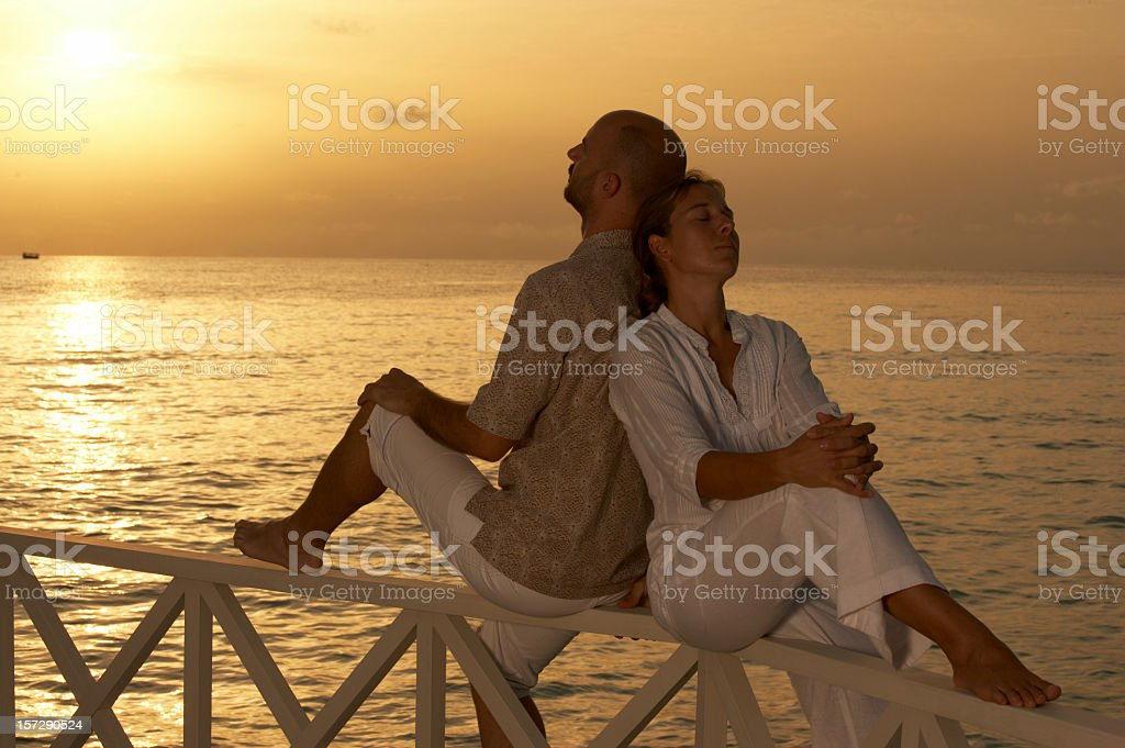 dreaming couple royalty-free stock photo