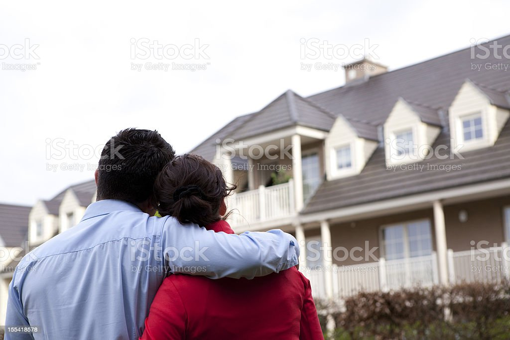 dreaming of a house stock photo