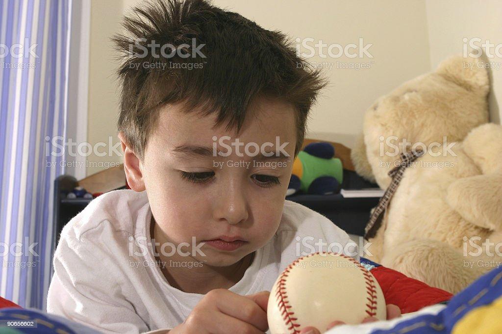 Dreaming of Baseball royalty-free stock photo