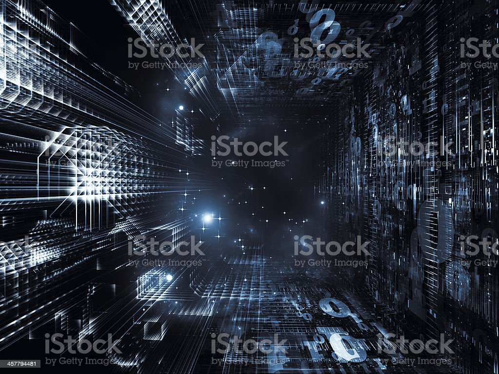 Dreaming of Fractal Realms stock photo