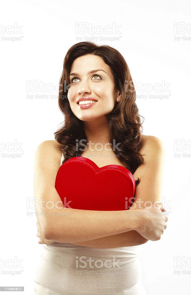 Dreaming of my Valentine royalty-free stock photo