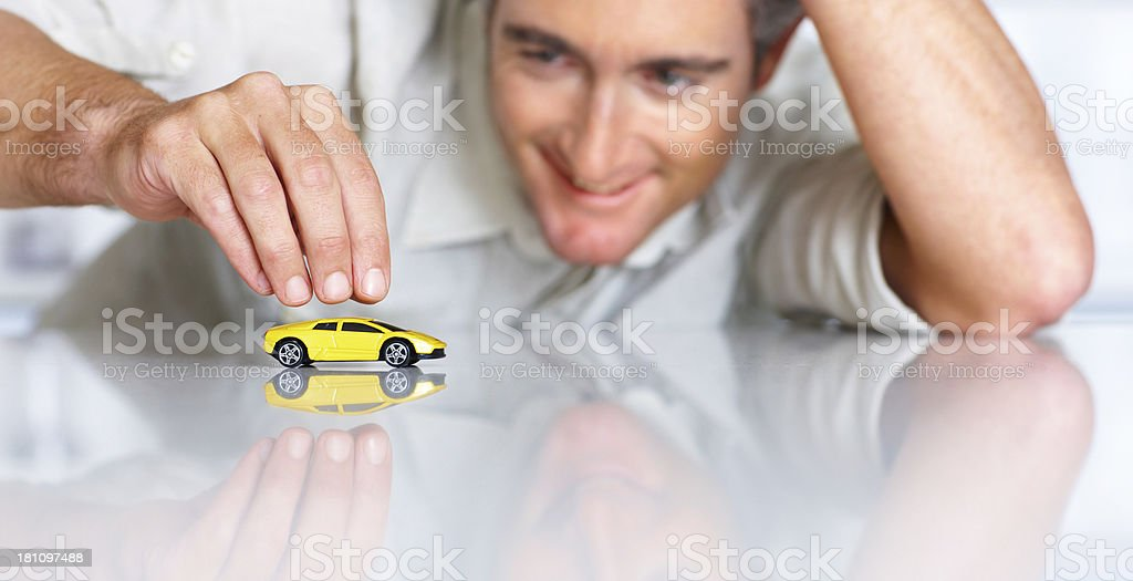 Dreaming of owning this car one day stock photo