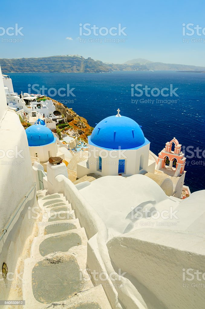 Dreaming of Santorini stock photo