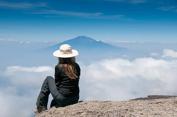 Dreaming no Kilimanjaro - foto de acervo