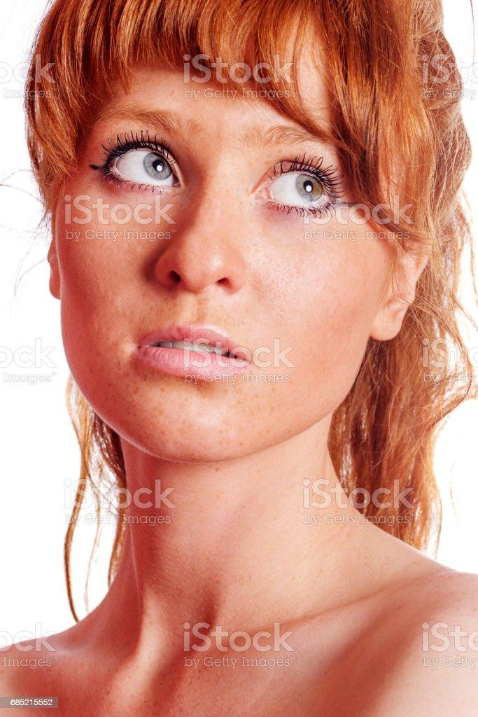 Dreaming pensive woman foto de stock royalty-free