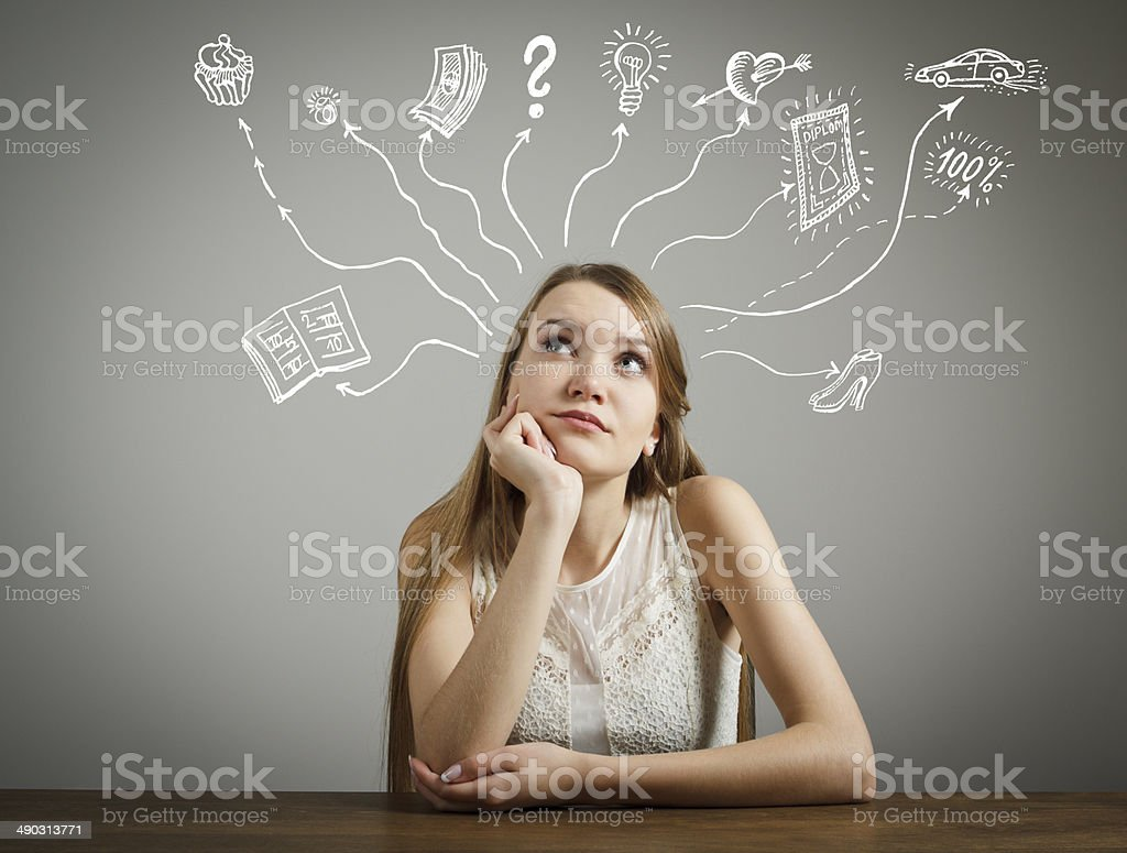 Dreaming stock photo