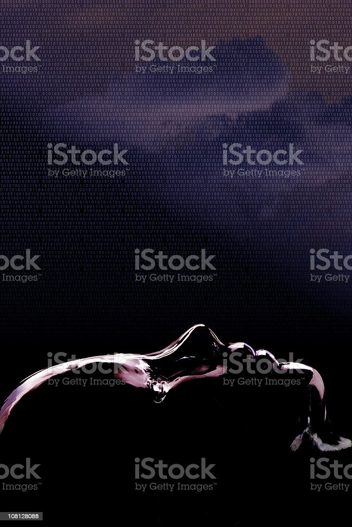 Dreaming Robot royalty-free stock photo