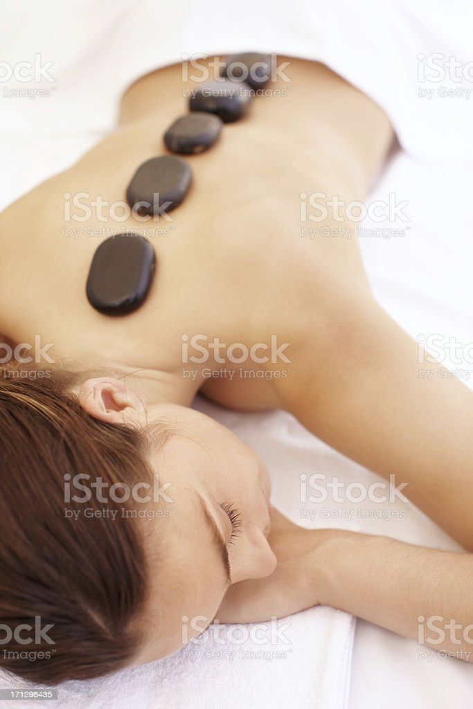 Dreaming while enjoying the perfect spa treatment royalty-free stock photo