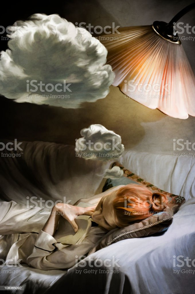 dreaming woman stock photo