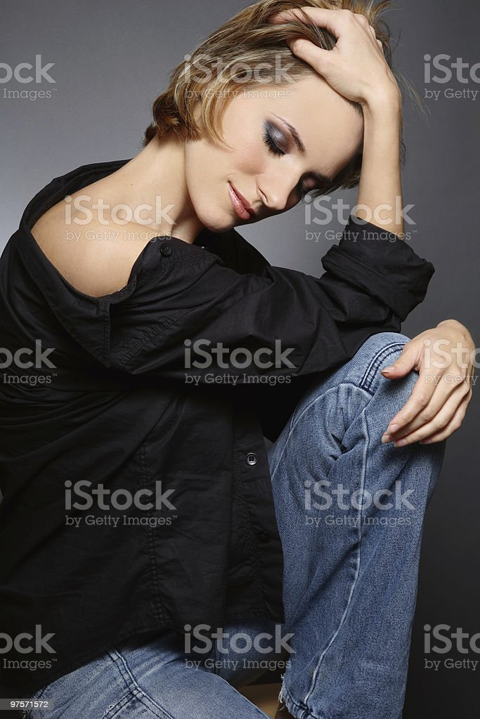 Femme rêvant photo libre de droits