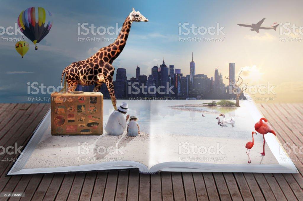 dreamlike travel stock photo