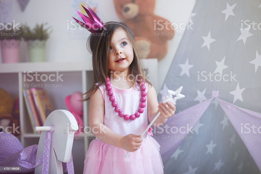 Dreams about being princess comes true stock photo