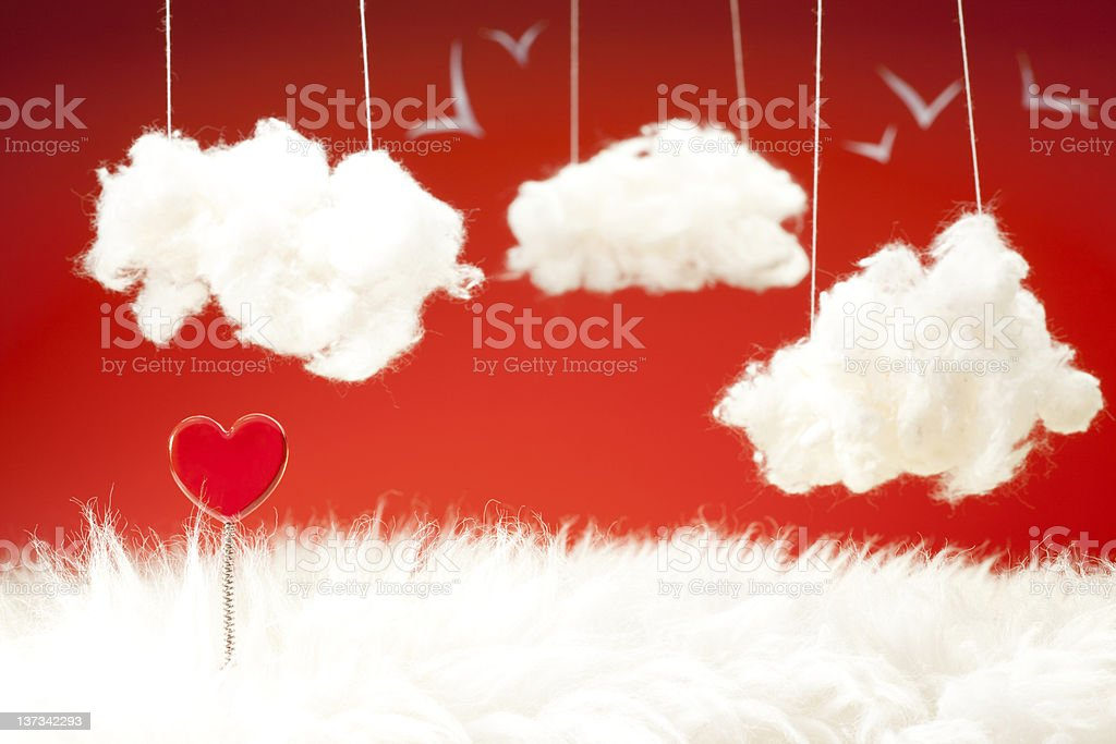 Dreams about love stock photo
