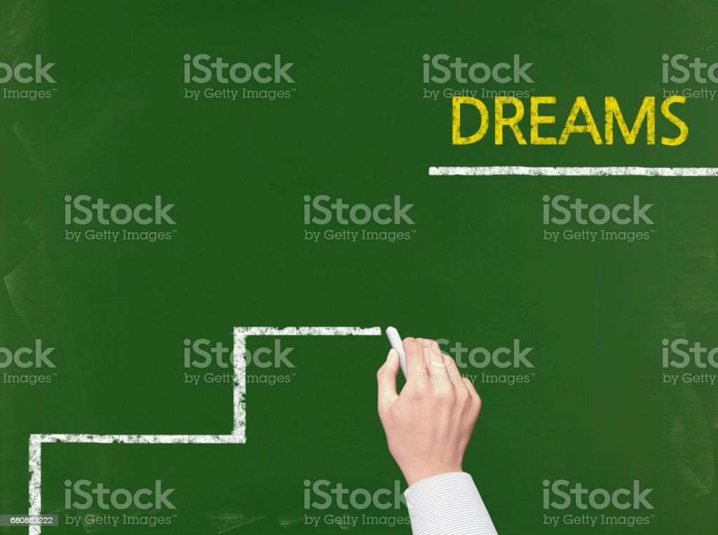Dreams - Business Chalkboard Background royalty-free stock photo