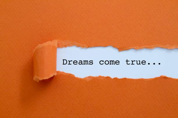 träume werden wahr - sprüche ehrlichkeit stock-fotos und bilder