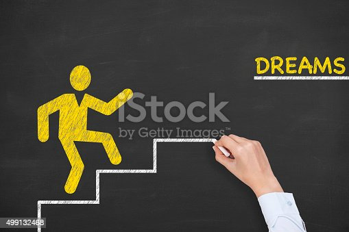 istock Dreams Concept on Chalkboard 499132468