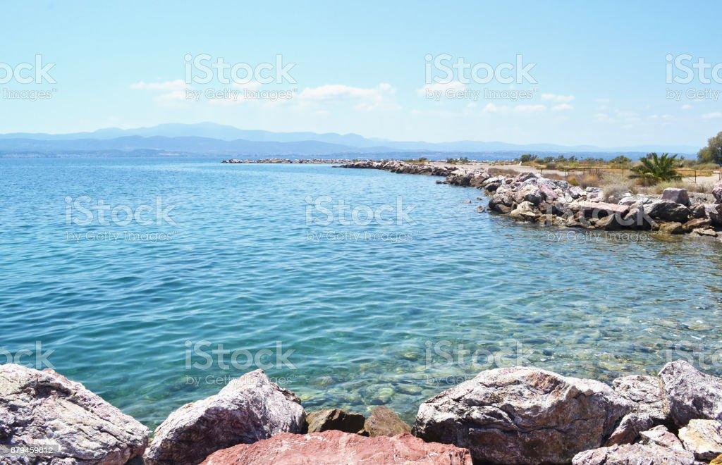 Dreams island beach at Eretria Euboea Greece royalty-free stock photo