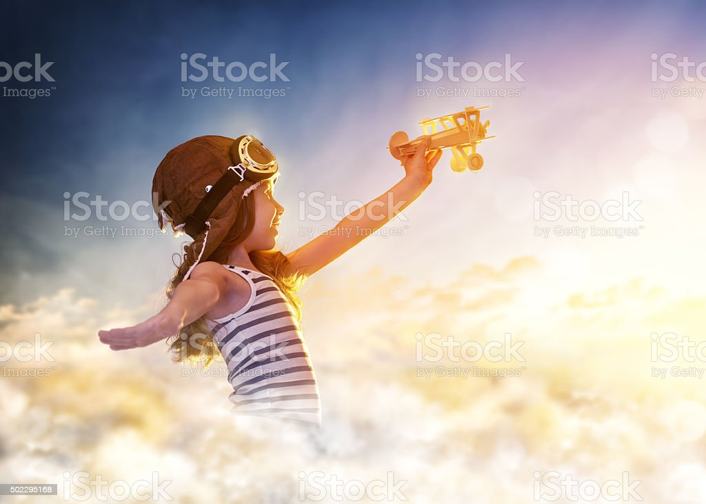 dreams of flight stock photo