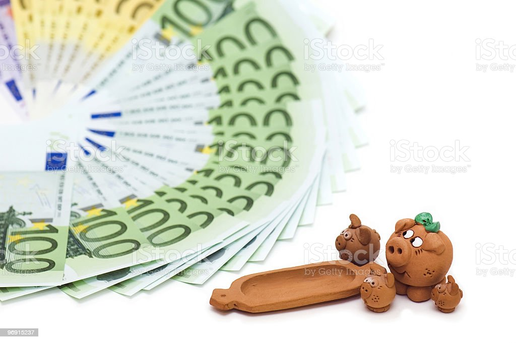 Dreams of money royalty-free stock photo