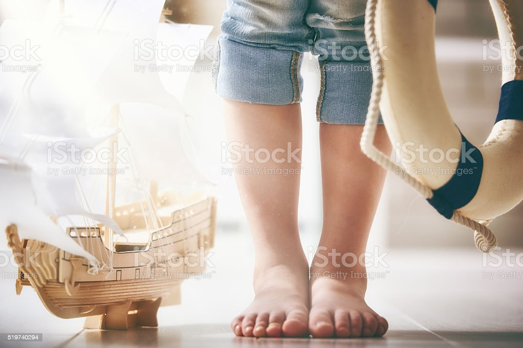 dreams of sea, adventures and travel. stock photo