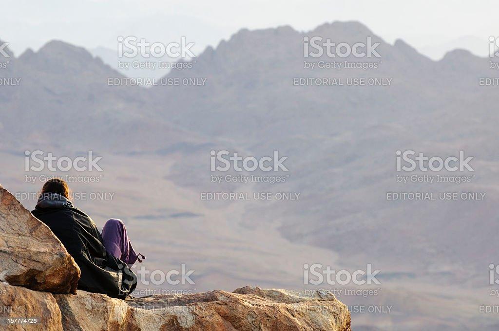 Dreams on Mount Sinai royalty-free stock photo