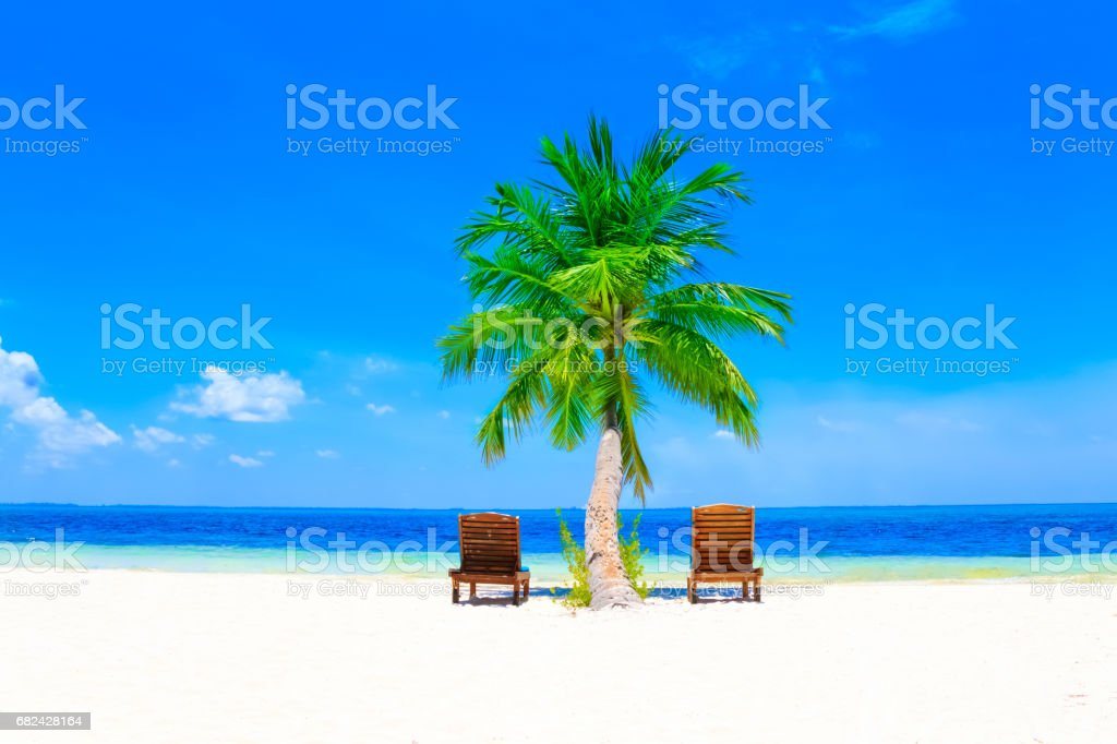 Dreamscape Escape On Maldives royalty-free stock photo