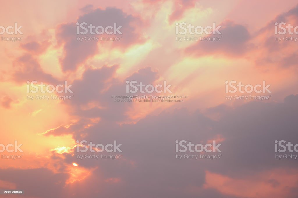 Dreamy Anime Sunrise And Sunset Pastel Sky Background Stock Photo Download Image Now Istock
