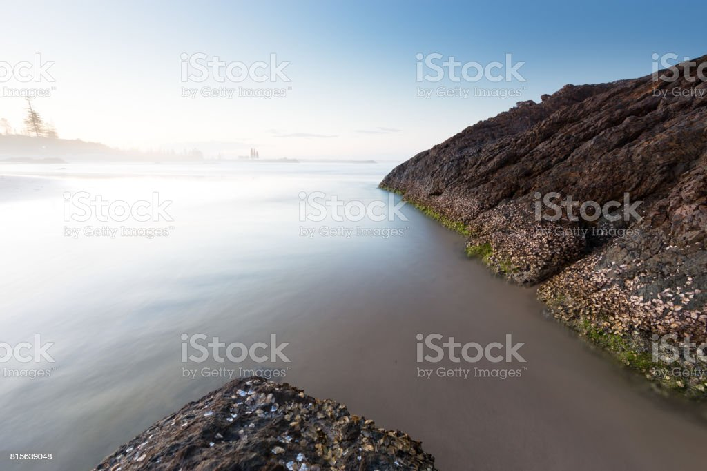 Dreamy Australian beach seascape stock photo