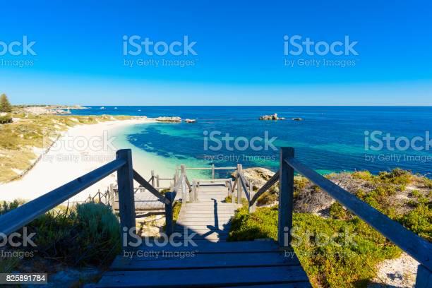 Photo of Dreamy Bay, white beach and rocks, island in Indian Ocean, Rottnest Island, Australia, Western Australia, Down Under
