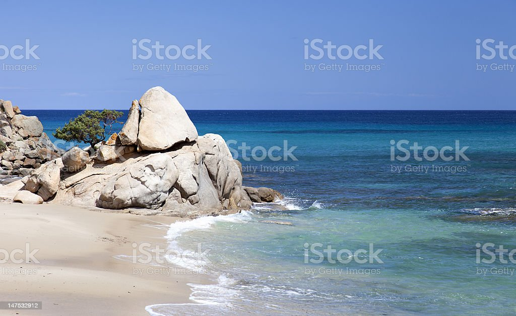 Dreamy beach royalty-free stock photo