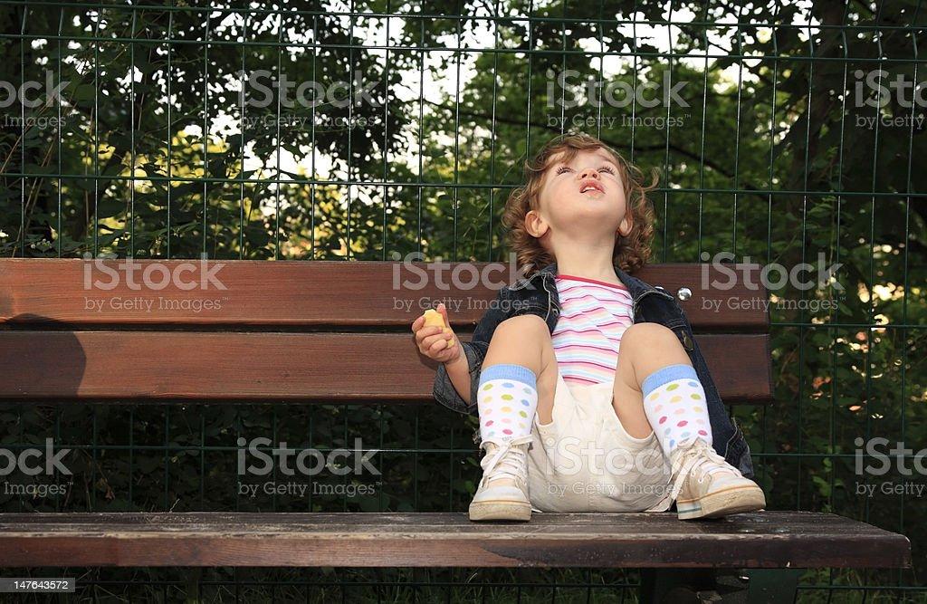 Dreamy child royalty-free stock photo