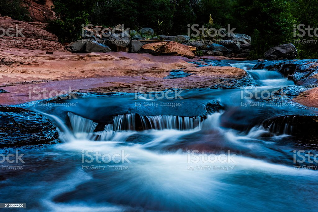 Dreamy flowing water stock photo