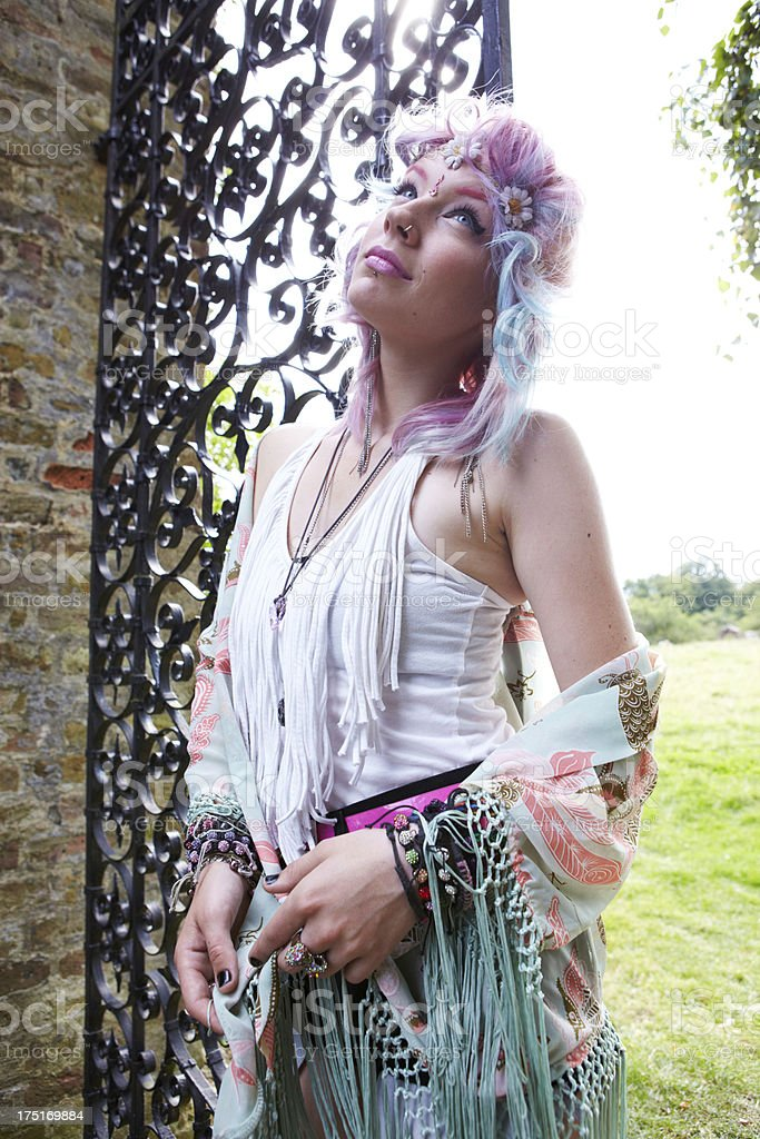 Dreamy Hippy Girl Portrait royalty-free stock photo