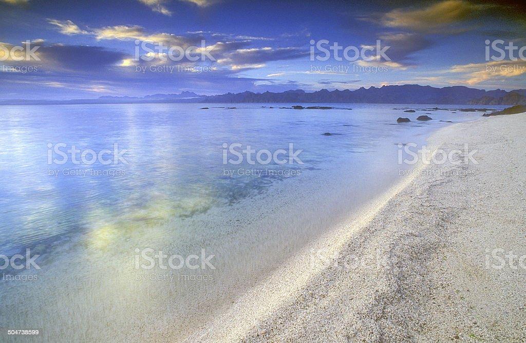 Dreamy Isla Carmen Beach stock photo