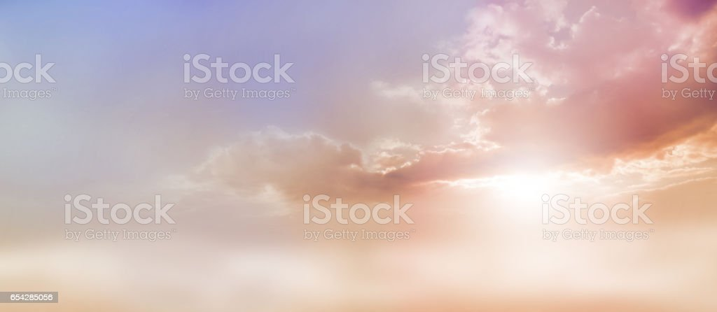 Dreamy Romantic Sky scape stock photo