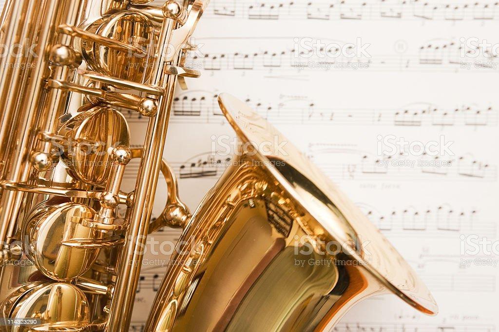 Dreamy saxophone on music royalty-free stock photo